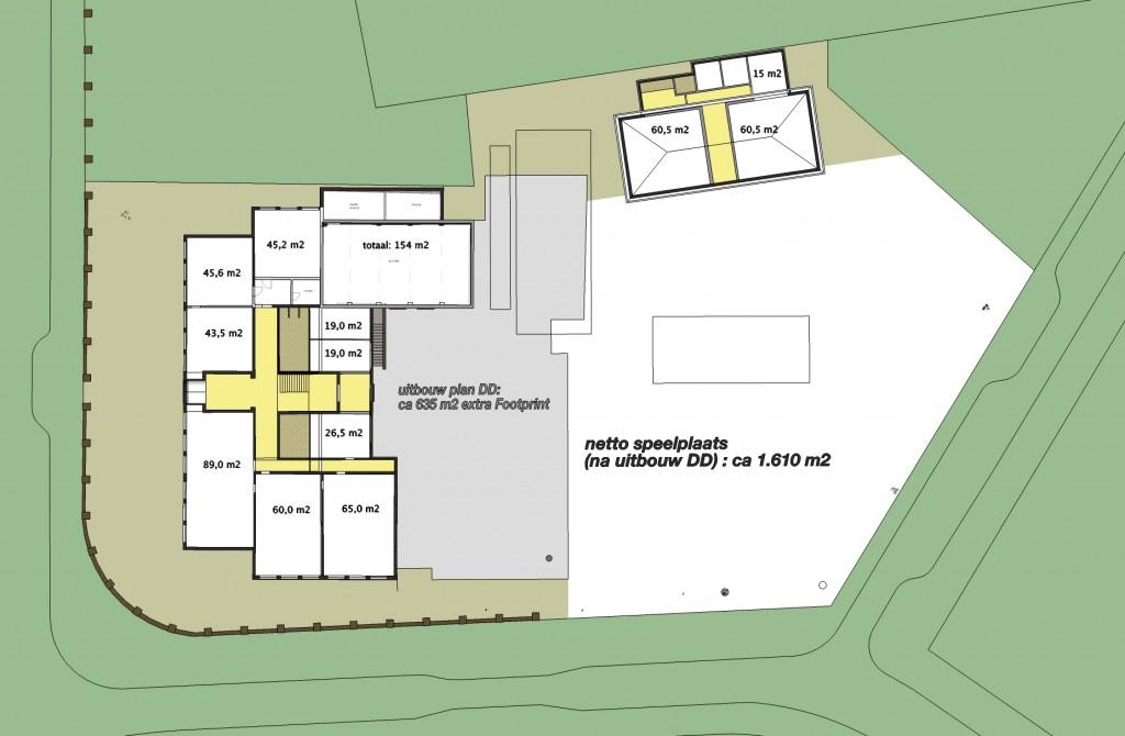 school Reigerlaan-plan DD footprint