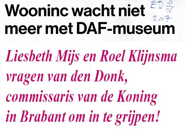 Geachte Commissaris van de Koning in Brabant: HELP