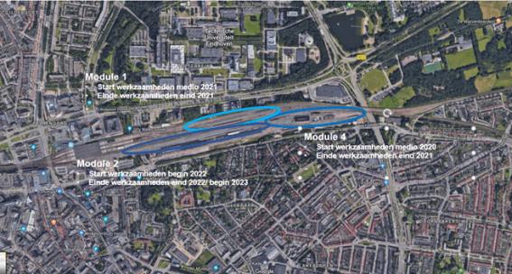 Uitbreiding opstelterrein spooremplacement Eindhoven